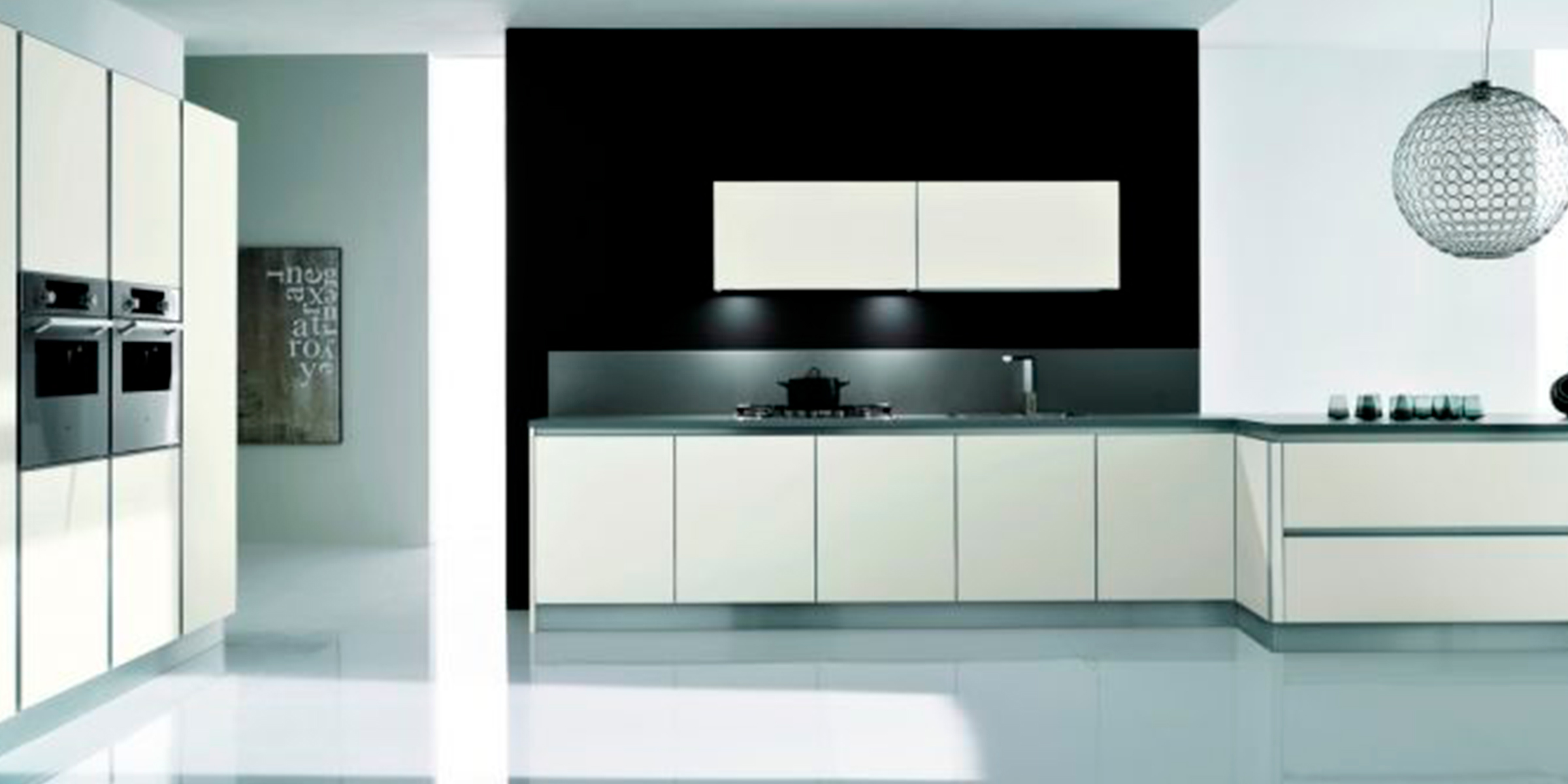 cuisine thai blanc brillant noyer arredamentigiordano. Black Bedroom Furniture Sets. Home Design Ideas